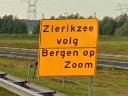 Bergen op Zoom in plaats van Zierikzee op de borden